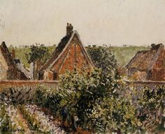 Harvest in the Orchard, Eragny - Camille Pissarro