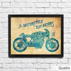 Pôster Moto - Machine Cult - Kustom Shop   A loja das camisetas de carro e moto