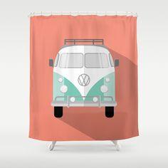 Retro Bus Shower Curtain by Shayray   Society6