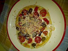 Home, Palermo, Italia #piadina #pizza #pomodorini #olive #ricottasalata #formaggio