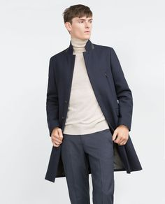 Image 1 of COAT WITH ZIPS from Zara