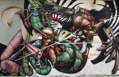 graffito di Gattonero al milan street hi-story, Colonne di San Lorenzo, Milano