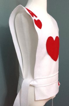 Ace of Hearts Playing Card Costume Tunic by TeatotsPartyPlanning