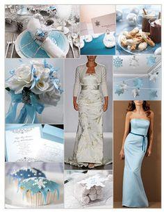 Wedding, Flowers, Reception, Cake, White, Dress, Blue, Bridesmaids