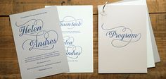 Letterpressed wedding stationary, by Pretty Paper, Sweden.