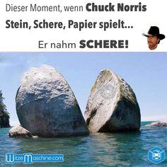 Wenn Chuck Norris Stein Schere Papier spielt - Witze - Jokes