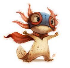 Axolotl Lucha Libre dorbes :3