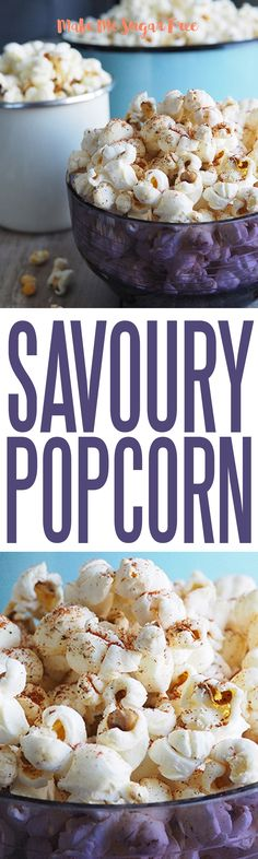 There are so many ways to do popcorn, I love chilli popcorn that blows my head off! This is a great snack to fend of the sugar cravings if you are trying to kick the sugar habit. Free Popcorn, Sugar Detox, Sugar Cravings, Sugar Free, Snacks, Breakfast, Sweet, Recipes, Food