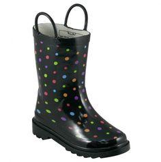 Girls Polka Dot Rain Boot