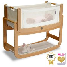 SnuzPod Bedside Crib Natural | Bedside Cots | The Little Green Sheep