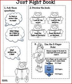 Just Right Books Printable