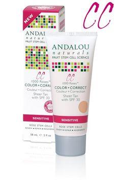 Andalou Naturals 1000 Roses CC Color + Correct, Sheer Tan, SPF 30    Skin Deep® Cosmetics Database   Environmental Working Group