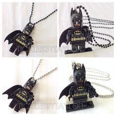 BOGO Buy 1 Get 1 Promo! Lego® BATMAN Justice League Necklace, Lego Superhero Necklace, FREE Lego® Minifigure Necklace Party Favors Gift on Etsy, $12.00