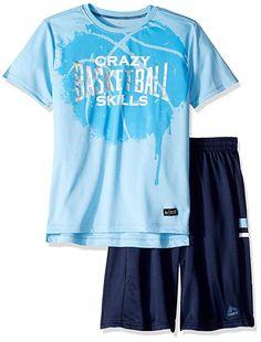 English Laundry Baby Boys Long Sleeve Sport Shirt Henley and Twill Short
