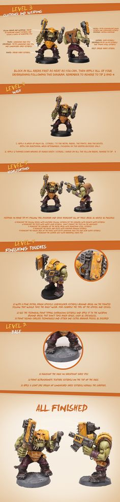 Here is an Ork Nob Painting Tutorial (Part 2)  www.facebook.com/artofthemini
