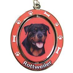 Rottweiler Dog Spinning Keychain