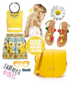 """""""Summer Brights"""" by zejna-husic ❤ liked on Polyvore featuring Dolce&Gabbana, Sans Souci, The Cambridge Satchel Company, Elizabeth Cole, ASOS, Chloe + Isabel and STELLA McCARTNEY"""