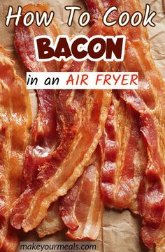 How To Cook Bacon in the Air Fryer - the easiest and BEST way to make bacon. How to cook bacon in an air fryer - the best way to cook bacon without all of the mess and without the risk of grease splattering over you and the kitchen! Air Fryer Recipes Snacks, Air Frier Recipes, Air Fryer Dinner Recipes, Air Fryer Recipes Potatoes, Air Fry Bacon, Bacon Bacon, Crockpot, Cooks Air Fryer, Air Fried Food
