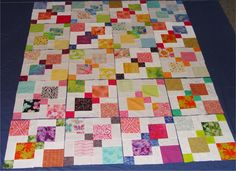Four Patch Quilts Patterns 4 Patch Quilt Ideas Twist And Turn Four Patch Quilt Pattern Free Disappearing Nine Patch Tutorial Colchas Quilting, Scrappy Quilts, Easy Quilts, Quilting Tutorials, Quilting Projects, Quilting Designs, Charm Pack Quilts, Charm Quilt, 9 Patch Quilt