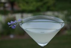 Lavender lemonade martini! Might be good for my picnic supper in the garden here, midMay.