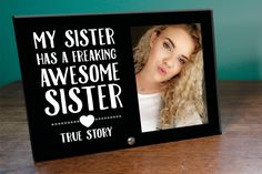 Awesome Sister Glass Photo Panel by GettingpersonalGifts on Etsy