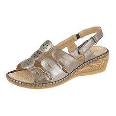 Boulevard Damen Slingback Sandale mit Klettverschluss (36 EUR) (Bronze/Zinn) - http://on-line-kaufen.de/boulevard-apparel-group/36-eu-boulevard-damen-slingback-sandale-mit