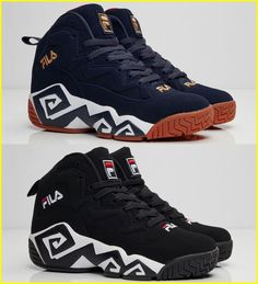 9fd0ac79de6 MEN s fila MB The MB off the bat features an iconic-signature design on the  black and white midsole