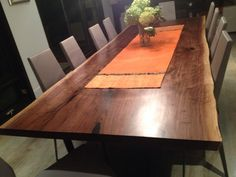 Live edge table live edge black walnut harvest table dining room table conference table boardroom table