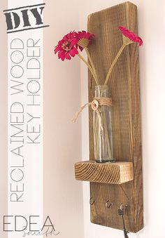 Rachel's Favorites: DIY Reclaimed Wood Key Holder