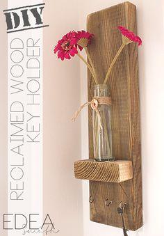 Rachel's Favorites: DIY Reclaimed Wood Key Holder