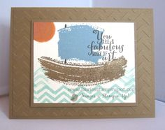 Hi Stampers! For more information on this card, visit my blog post at: http://www.lauriesstampinspot.com/2014/08/work-of-art-sailboat.html Thanks for looking and Happy Stamping! -Laurie www.LauriesStampinSpot.com