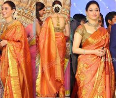 Tamanna in Bridal Saree~Latest Blouse Designs 2014~South India Fashion
