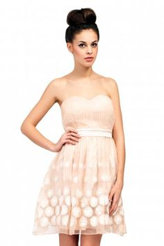 Little+Mistress+Cream+Bandeau+Floral+Embroidered+Prom+Dress