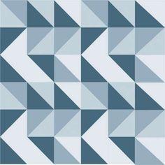 Papel de Parede Adesivo Geométrico 50x1040cm Azul Dona Cereja