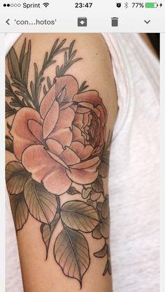 floral tattoo by alice carrier at wonderland tattoo in portland, oregon Faded Tattoo, Arm Tattoos, Piercing Tattoo, Tattos, Tattoo Skin, Tattoo Thigh, Trendy Tattoos, Popular Tattoos, Hip Tattoos