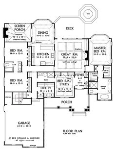 A really fantastic plan.  Re-orient study door to living room side, expand master closet into part of existing foyer closet, no bonus room turn stair case to storage. I love this one.