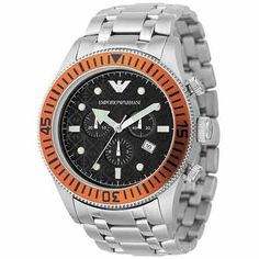 AR0552 Emporio Armani Sports Style Stainless Steel Designer Mens Watch, ONLY 295$.