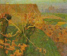 Jan Toorop, Bloembollenvelden bij Oegstgeest, 1885