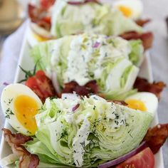 Paleo Wedge Salad  # Hi guys, it's me again! Michelle from @thewholesmiths  Are you guys enjoying my recipes so far?? Make sure to come hang w me over at @thewholesmiths for lots more food, 90's references, hilarious-ness and best of all... it's politics free. #safezone  # I want to congratulate all of you who completed your #JanuaryWhole30 with some ranch-y, bacon-y goodness so let's get to it. # This Paleo Wedge Salad is better than any other wedge salad I've had before you wouldn't kn...