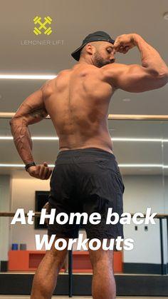Back Workout Men, Back Workout At Home, Good Back Workouts, Gym Workouts For Men, Full Body Workout Routine, Extreme Workouts, Gym Workout Tips, Back Exercises, Workout Videos