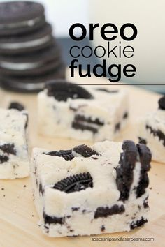 Need a little something special for your holiday party dessert table that doesn't take forever to make? You might want to try this OREO Fudge idea. Anything OREO is alright with me and I know I'm not (Cheese Table White Chocolate) Fudge Recipes, Candy Recipes, Dessert Recipes, Dessert Ideas, Cookies And Cream Fudge, Oreo Cookies, Yummy Treats, Delicious Desserts, Sweet Treats