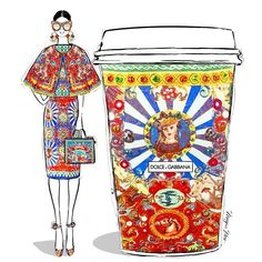 Today's coffee is the perfect Italian brew by the masters of colour and print... DOLCE & GABBANA...