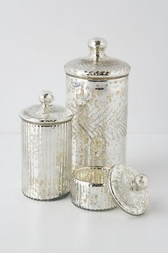 Mercury jars. So pretty that I would have to find things to put in them. Q-tips? Pills? Booze? $12-$28
