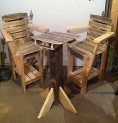 Bar Bistro Set Made From Pallets  ---   #pallets  #palletproject