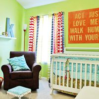 Love the piece over the crib.