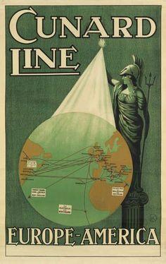 Cunard Line - Europe - America - 1920 -