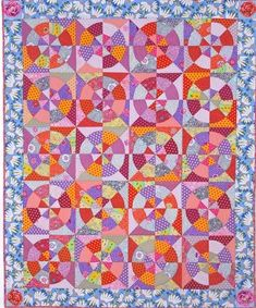 Hot Wheels quilt by Kaffe Fassett, in: Blanket Statements: New Quilts by Kaffe Fassett.  2015-2016 exhibit, Michener Art Museum.