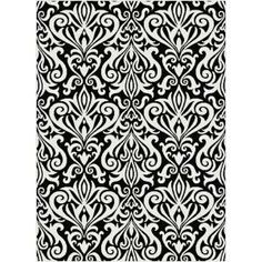Tayse Rugs Metro Black 5 ft. 3 in. x 7 ft. 3 in. Contemporary Area Rug - 1096 Black 5x8 at The Home Depot