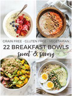 22 Sweet and Savory Breakfast Bowls {grain free, gluten free, vegetarian} #Glutenfreebreakfasts