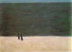 Milton Avery - Walkers by the sea - 1954